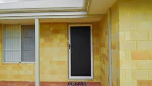 security door - white - single door