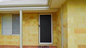 security door - white - single door