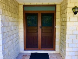 screenguard woodgrain stainless steel - double door