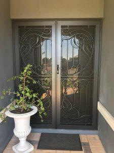 decorative door - grey - double door